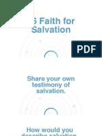 6 Faith for Salvation