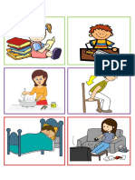 Printable Action Verb Flashcards