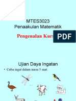 MTES3023 PENAKULAN MATEMATIK BAB 1