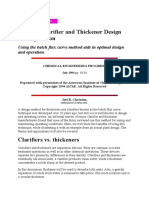 Improve Clarifier and Thickener Design and Operation