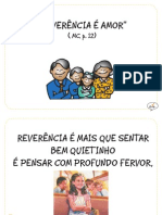 """Reverência é amor"", (MC p. 12)"