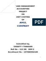 Amul Unit Costing Report