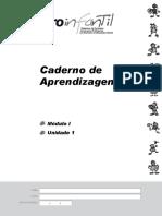 Caderno de Aprendizagens Modulo 1 Unidade 1