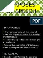 Purposes of Speech