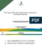 Paris Agreement and Its Implication on Development Agenda