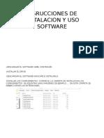 Insrucciones de Instalacion y Uso Software