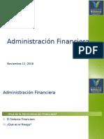 Administración Financiera & Riesgos Nov 11, 2016