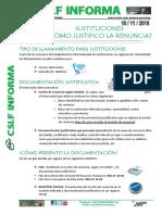 20160118 Csif Informa Justificación Sustituciones