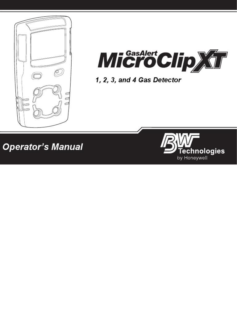 GasAlertMicroClip XT OperatorsManual(50120681 001 en A1