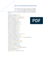 Liste Verbes Subj Ind