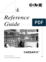 Quick Reference Ceasar II