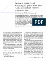 Inelastic Initial Local Buckling of Plates With and Without Residual Stresses 1993