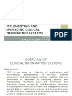 Implementing and Upgrading Clinical Information Systems