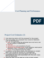 Cost Planning and Control