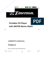 Emerson PD6810 CD Boom Box
