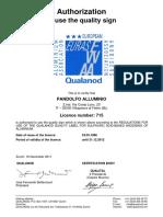 Qualanod Pandolfo Alluminio