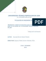 """Modelación y diseño de soluciones para la estabilidad de talud en los predios de la Universidad Técnica Particular de Loja"""""""