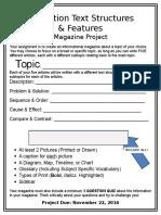 magazine project nonfiction text structures  3