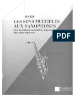 Multifônicos para saxofone