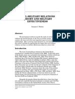 US Civ Mil Relations