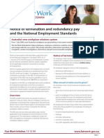Notice of Termination and Redundancy Pay