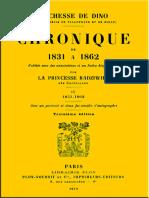 Chronique de 1831 à 1862, Tome 4 (de 4) by Dorothée de Dino
