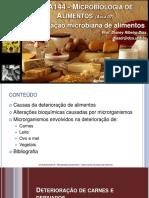 Microbiologia de Alimentos - Aula 07 - Deterioracao Microbiana de Alimentos 2 - 2014-1