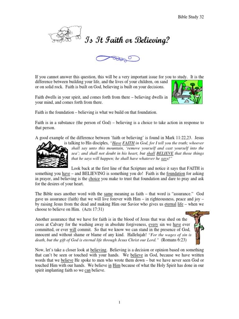 32 is It Faith or Believing | Assurance (Theology) | Faith