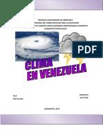 Clima en Venezuela 2