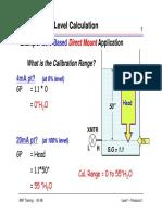 Level Calculation