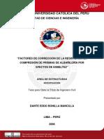2006 Factores de Correcion de La Resistencia en Compresion de Primas de Albañileria Por Efectos de Esbeltez
