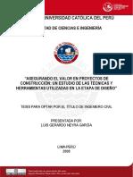 2008 Asegurando El Valor en Proyectos de Construcción_Un Estudio de Las Técnicas y Herramientas Utilizadas en La Etapa de Diseño