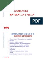 Fondamenti di Matematica e Fisica