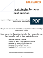 5 Practice Strategies for Your Next Audition