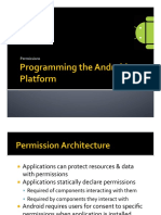 Permissions Android ppt