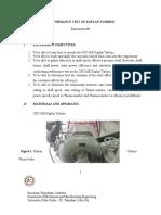 Lab Guide - Kaplan Turbine