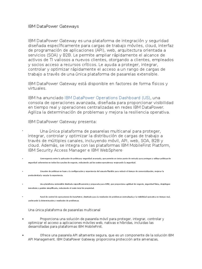 IBM DataPower Gateways