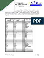 Lista de Verbos Irreg y Reg TICSI
