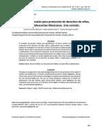 Legislaciones Federales para Protección de Derechos de Niñas, Niños y Adolescentes Mexicanos. Una revisión.