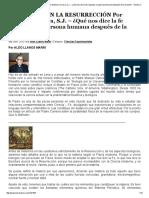 La Materia en La Resurrección Por Manuel Carreira, s.j