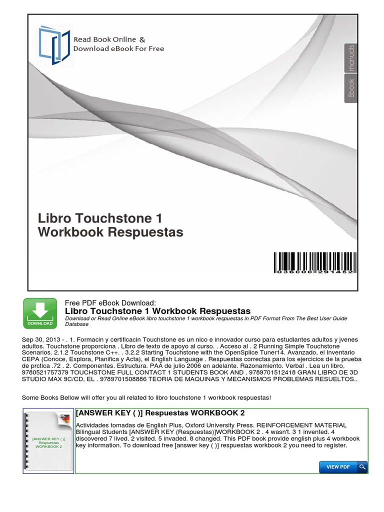 touchstone workbook решебник