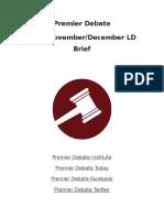 Premier Debate Brief ND16