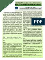 A Prevalência Do Modelo Biomédico