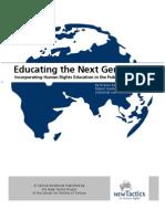 Educating the Next Generation (English)