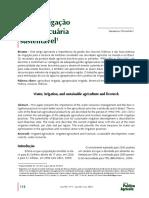 Agua Irrigacao e Agropecuaria Sustentavel