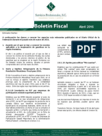Boletin Fiscal Abril 2016