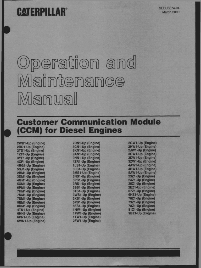 caterpillar ccm fordieselengines modem electrical connector