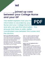 College Nurse Service Patient Information Leaflet