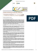 Contratos de Factoring y de Descuento, Diferencias - SUPERFINANCIERA