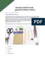 Cara Kreatif Membuat Mobil Listrik Mainan Menggunakan Dinamo Tamiya